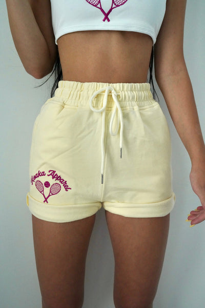 Jaune Tennis Sweat Shorts