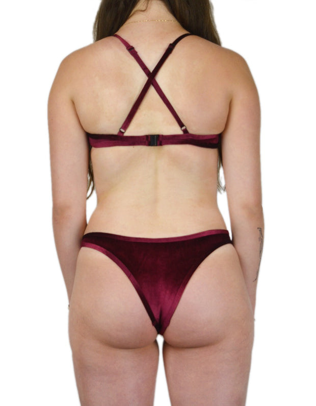 VAL WINE VELVET SET - HOAKA SWIMWEAR
