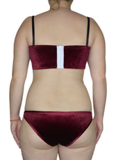 SARA WINE VELVET SET - HOAKA SWIMWEAR