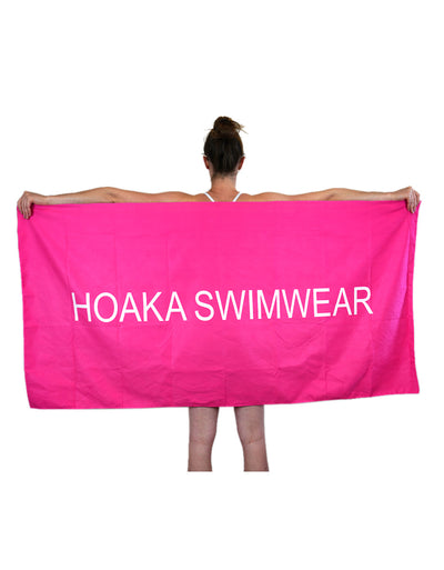 NEON PINK HOAKA TRAVEL TOWEL