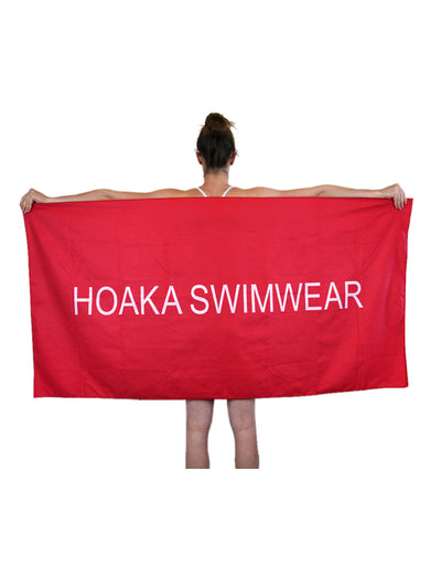 RED HOAKA TRAVEL TOWEL