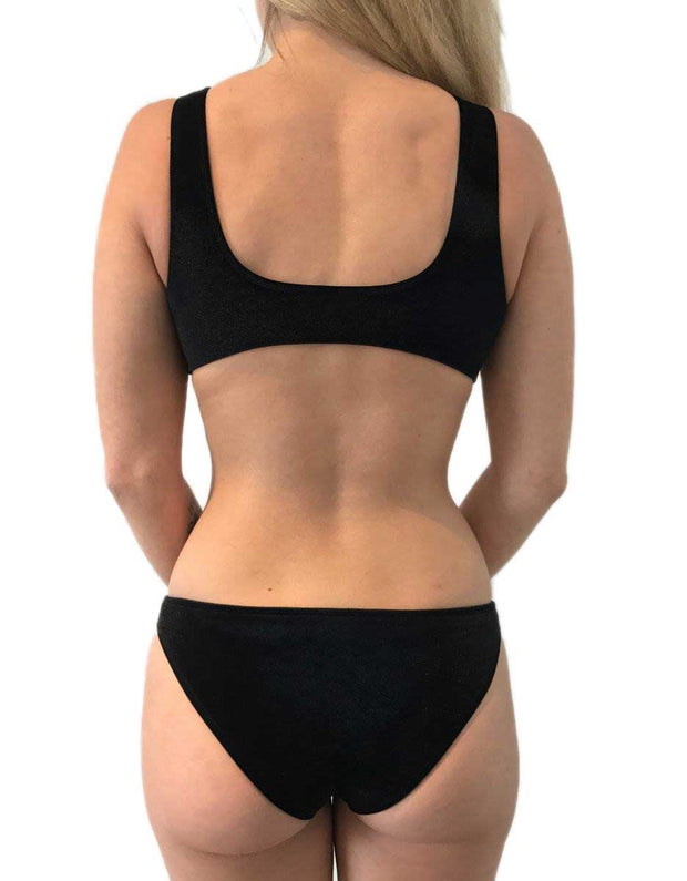 BELLA BLACK VELVET SET - HOAKA SWIMWEAR