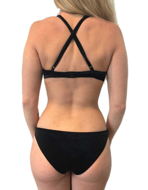 DANAE BLACK VELVET SET - HOAKA SWIMWEAR
