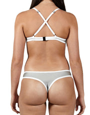 LYLY SHINY GREY SET - HOAKA SWIMWEAR