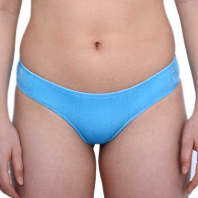 PALE BLUE VELVET BOTTOMS - HOAKA SWIMWEAR