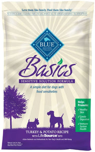 Blue Buffalo Basics Adult Turkey and Potato Recipe Dry Dog Food
