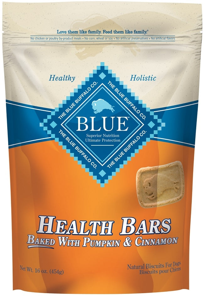 Blue Health Bars Baked With Pumpkin and Cinnamon Dog Treats
