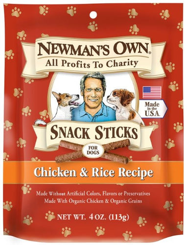 Newman's Own Organics Chicken and Rice Snack Dog Sticks
