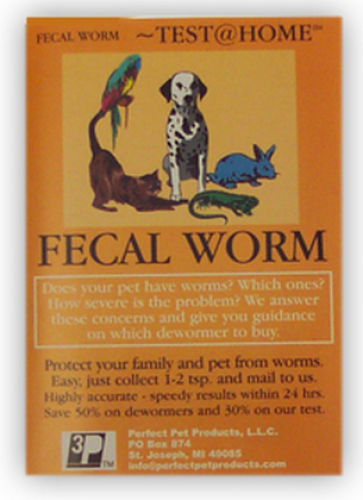 Perfect Pet Products Fecal Worm at Home Test for Dogs and Cats