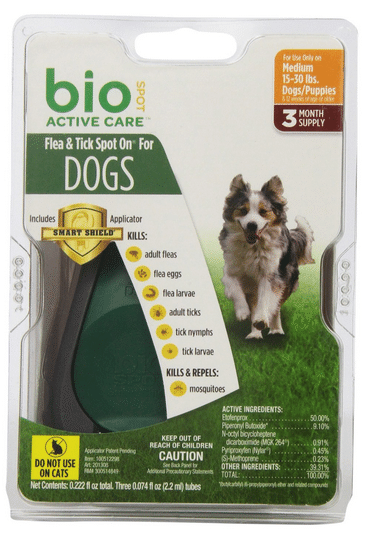 Bio Spot Active Care Flea and Tick Spot for Medium Dogs