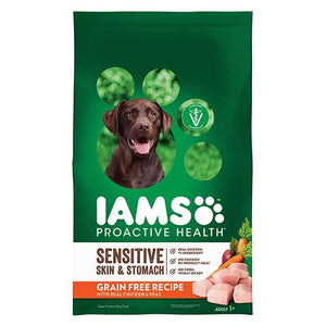 Iams Grain Free Naturals Adult  Chicken and Garden Pea Dry Dog Food