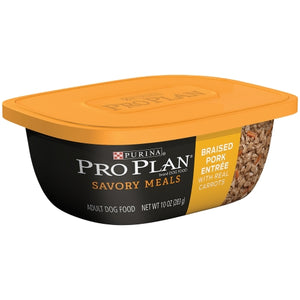 Purina Pro Plan Savory Meals Braised Pork Entree with Real Carrots Adult Dog Food