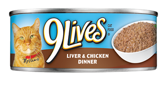 9 Lives Liverand Chicken Dinner Canned Cat Food