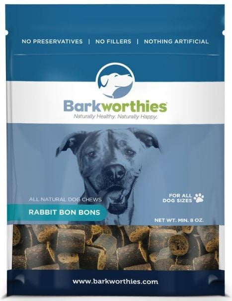 Barkworthies All Natural Rabbit Liver Bon BonsDog Treats