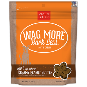 Cloud Star Wag More Bark Less Soft and Chewy Creamy Peanut Butter Dog Treats