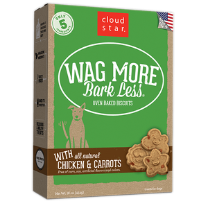 Cloud Star Wag More Bark Less Oven Baked Chicken and Carrots Dog Treats