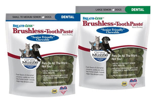 Ark Naturals Gray Muzzle BREATH-LESS Brushless Toothpaste for Senior Dogs