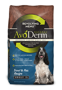 Avoderm Revolving Menu Grain Free Trout and Pea Recipe Adult Dry Dog Food