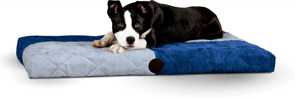 K&H Pet Products Blue Quilted Memory Dream Bed