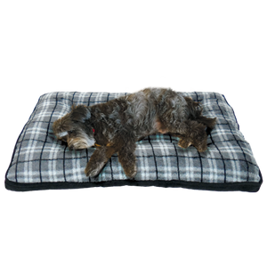 Arlee Pet Products Rover Crate Pad Hunter Plaid Slate Mattress Cushions