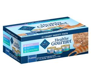Blue Buffalo Healthy Gourmet Flaked Tuna, Chicken and Fish with Shrimp Variety Pack Canned Cat Food