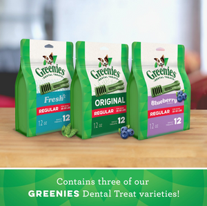 Greenies Regular Three Flavor Variety Pack Dental Dog Treats