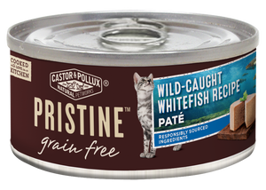 Castor and Pollux Pristine Grain Free Wild Caught Whitefish Pate Canned Cat Food