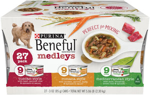 Beneful Medley Variety Pack Mediterranean, Romana, Tuscan Canned Dog food
