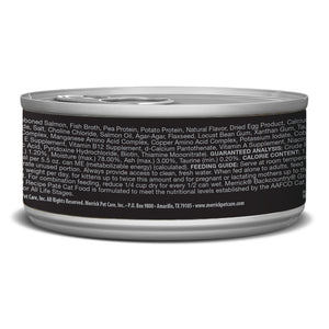 Merrick Backcountry Grain Free Salmon Pate Canned Cat Food