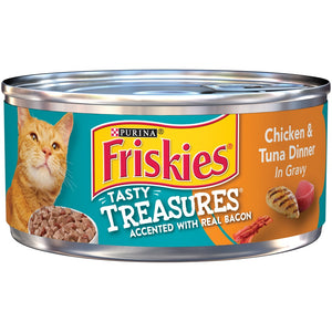 Friskies Tasty Treasures Chicken & Tuna in Gravy Canned Cat Food