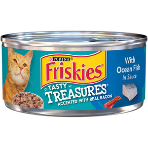 Friskies Tasty Treasures with Ocean Fish in Sauce Canned Cat food