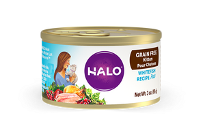 Halo Kitten Grain Free Whitefish Recipe Pate Canned Cat Food