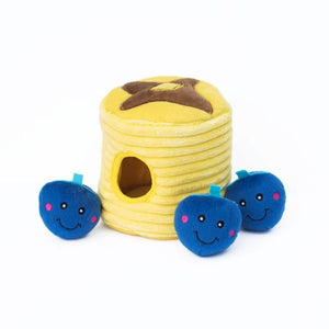 ZippyPaws Zippy Burrow Blueberry Pancakes Puzzle Dog Toy