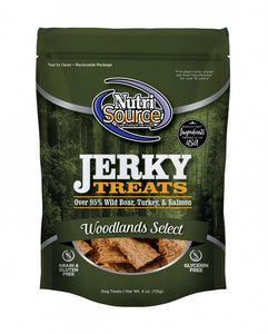 Nutrisource Woodlands Select Grain Free 95% Wild Boar, Turkey, & Salmon Jerky Dog Treats