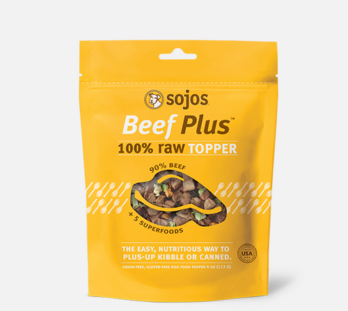 Sojos Grain Free Beef Plus 100% Raw Freeze Dried Dog Food Topper