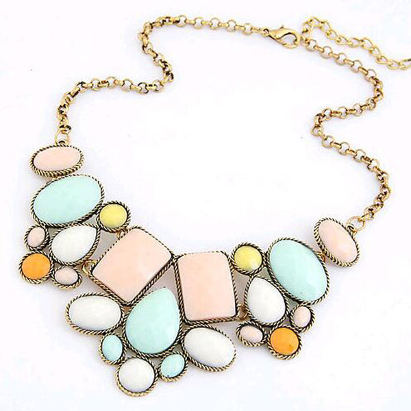 "Collier Long ""StoneFlower"""