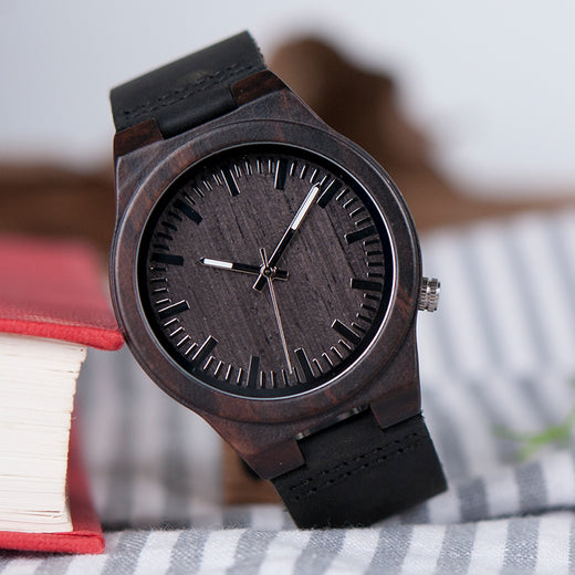 "Montre bois, ""Dark Wood"""