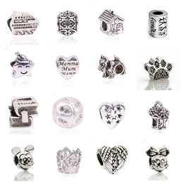 "Accessoires Bijoux ""Charms"", silver style"