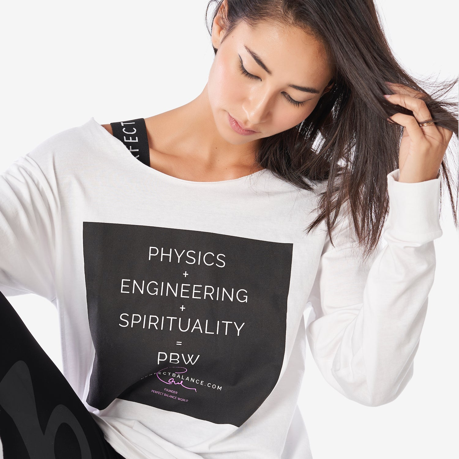 Physics + Engineering + Spiritually 100% Cotton Raw Cut Neck Long Sleeve