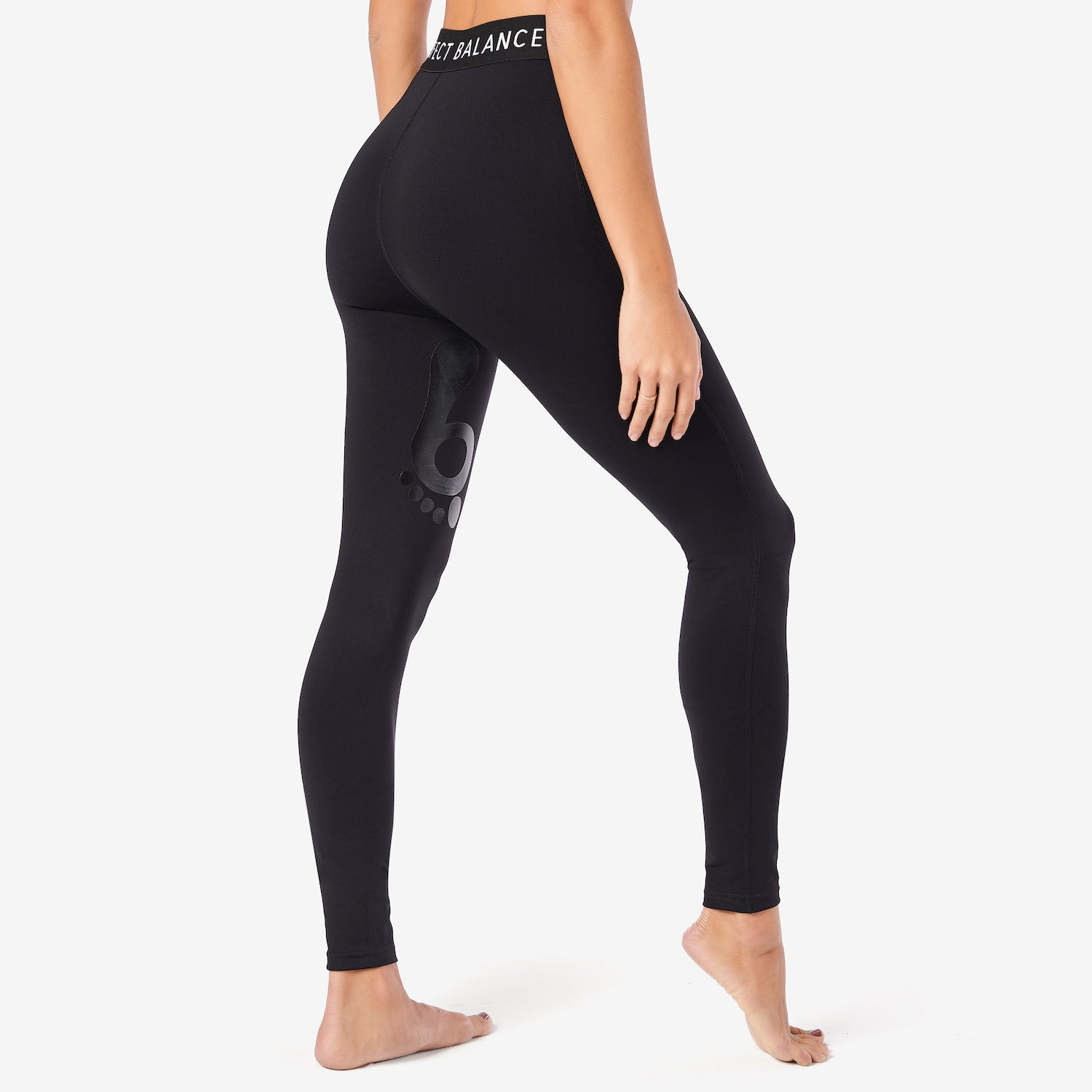 Perfect Balance Monogram Elastic Legging with Heat Seal Landmark