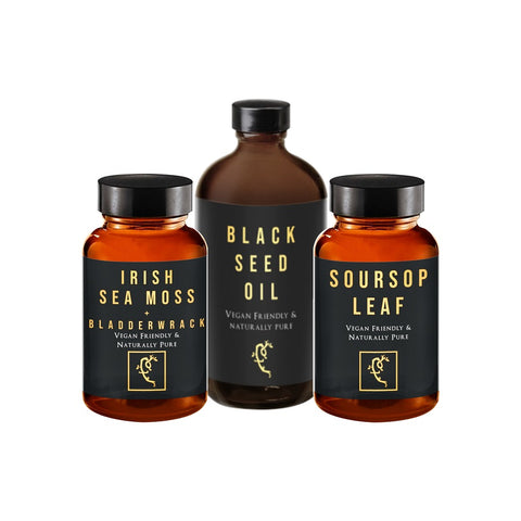 G-Host Bundle (Blackseed, Sea Moss, Soursop)