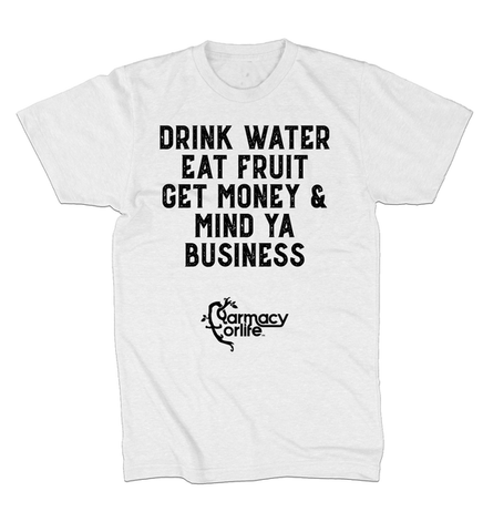 Drink Water Eat Fruit White T Shirt