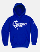 Royal Blue Farmacy Logo Hoody