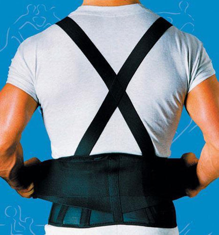 Orthopedic Care 9  Back Belts With Suspenders Black Sportaid