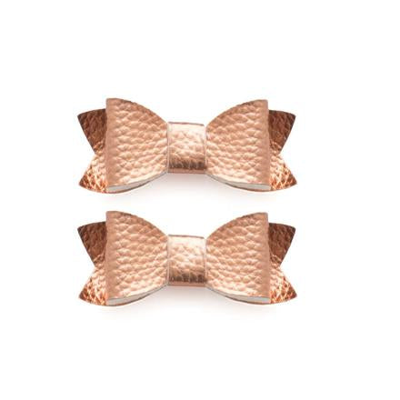 Leather Bow Tie Clips (2PK), Accessories - baby, Baby Bling - Purr Petite
