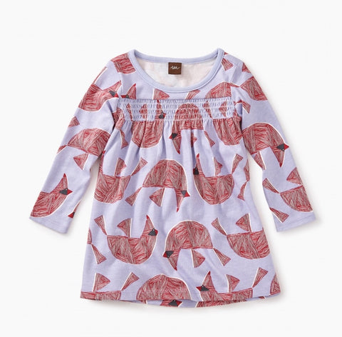 Printed smocked baby dress, Dress - baby, Tea - Purr Petite