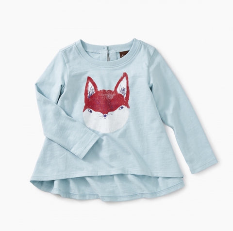 Friendly Fox graphic tee, shirt - baby, Tea - Purr Petite