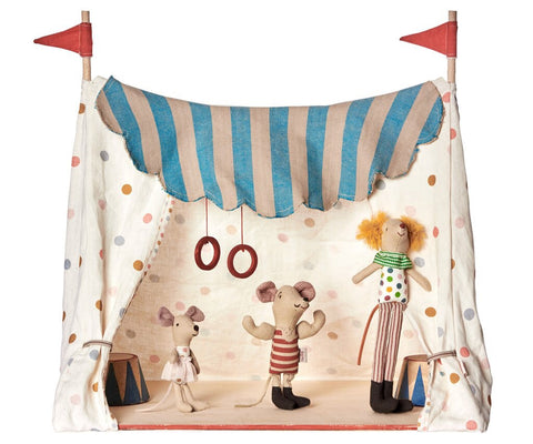 Circus Tent with 3 Circus Characters, Toy, Maileg - Purr Petite