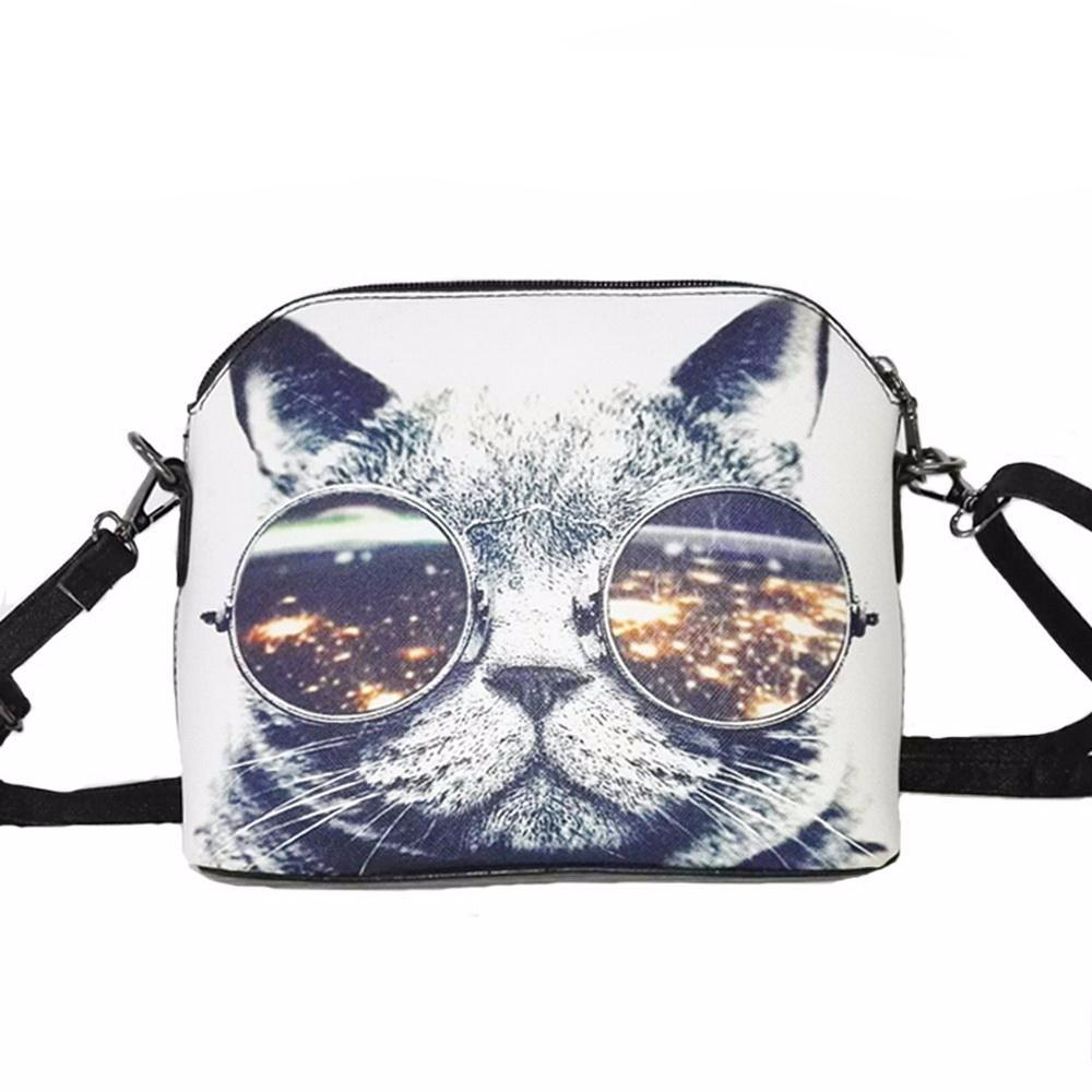 Cool Cat leather messenger bag