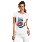 Boxer Cat T-Shirt - Super Cute Cat Attack Cartoon T-Shirt